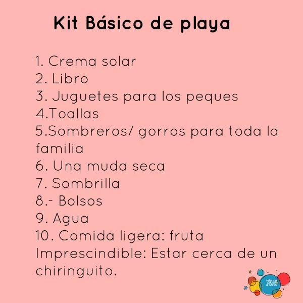 Kit básico de playa
