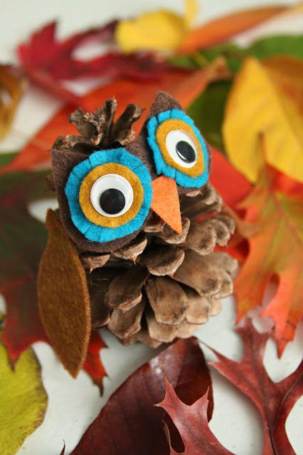 5 manualidades otoño- búho