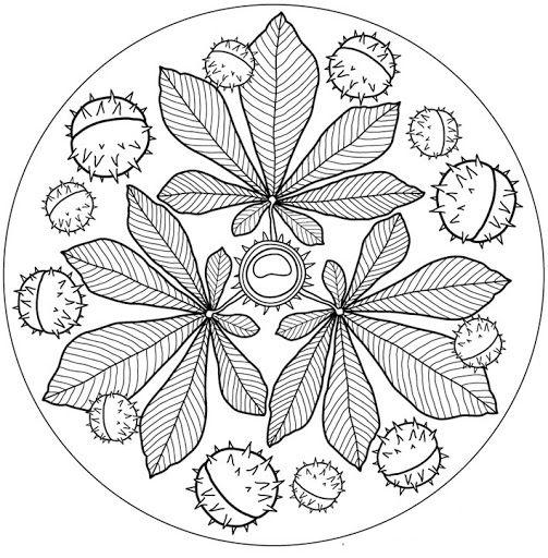 5 manualidades otoño - mandala