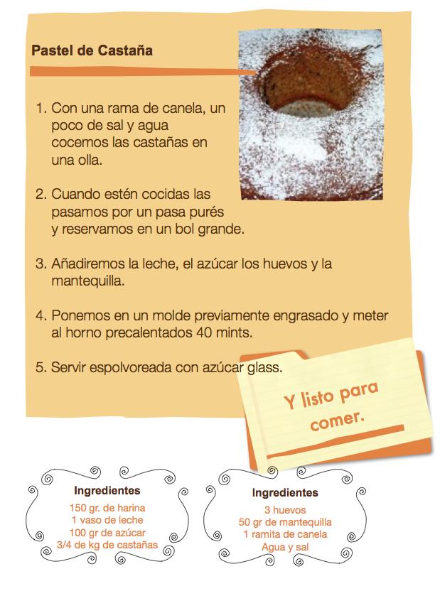Pastel de Castañas. Valencia Peque Universo.